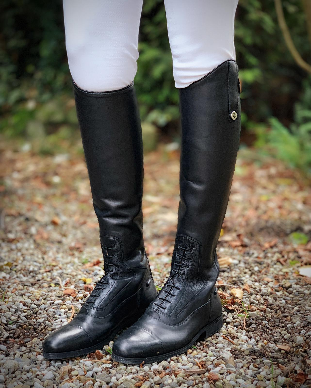Erasmo Delta Leather Long Riding Boots