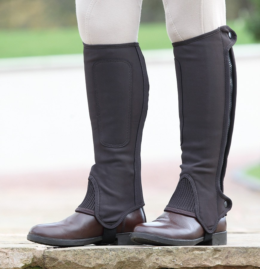 shires adult nubuck chaps brown