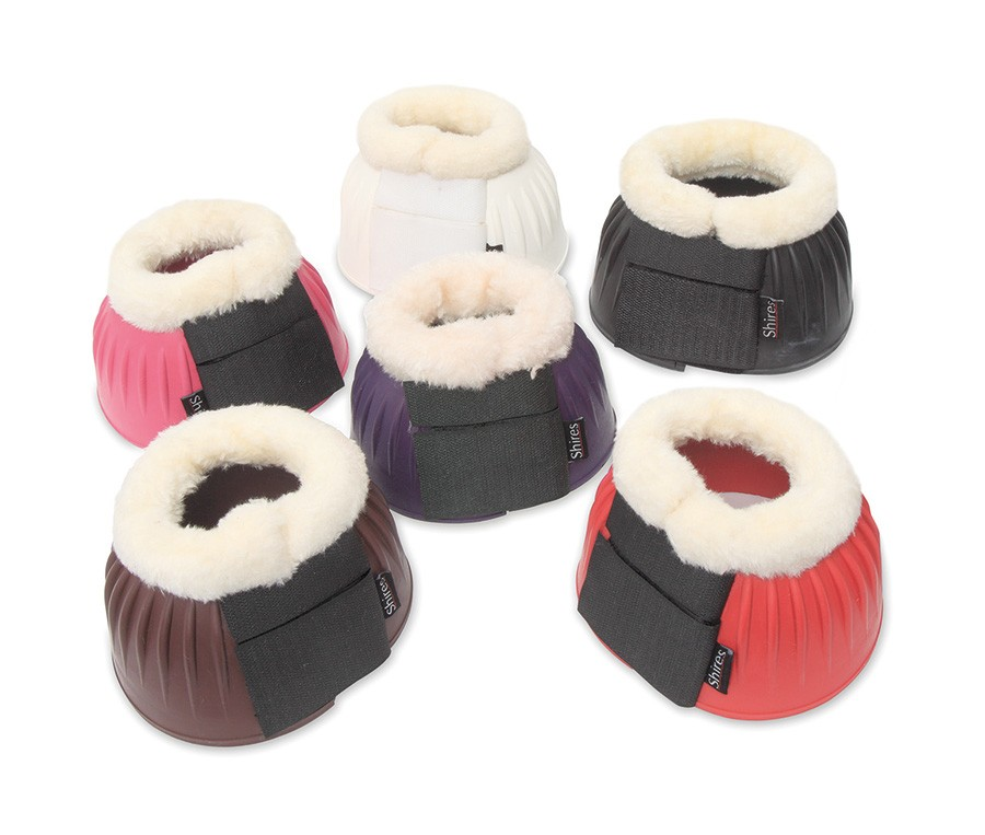 shires fleece trimmed over reach boots