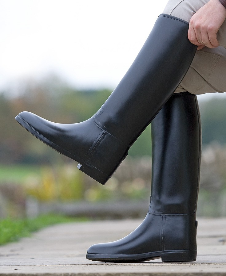 shires long rubber riding boots ladies