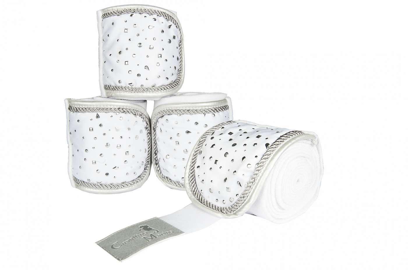 HKM_Cavallino_Marino_Silver_Stream_Polar_Fleece_Bandages