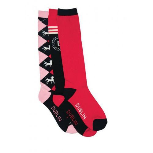 dublin crest socks pink