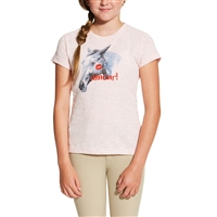 ariat girls amour tee pink
