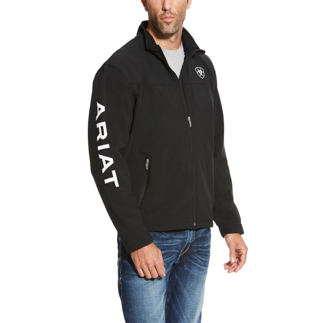 ariat mens softshell black